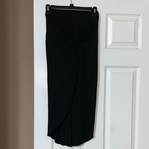 Charlotte Russe Black High Low Skirt